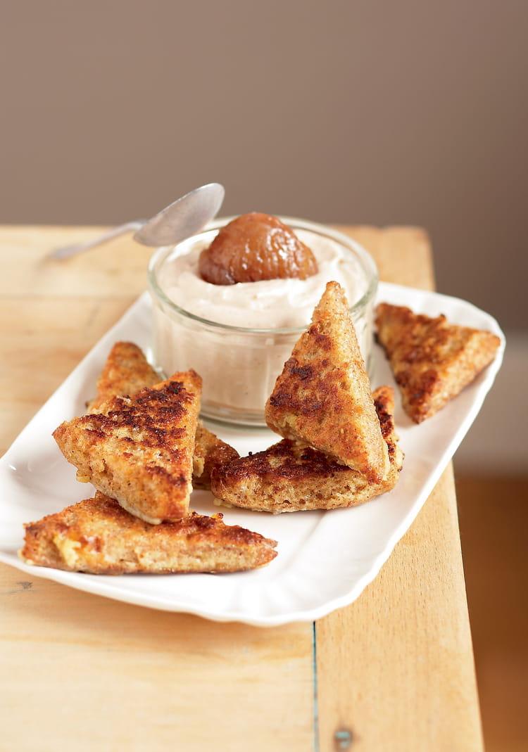 Verrines de pain retrouv mousse la cr me de marron - Mousse a la creme de marron ...