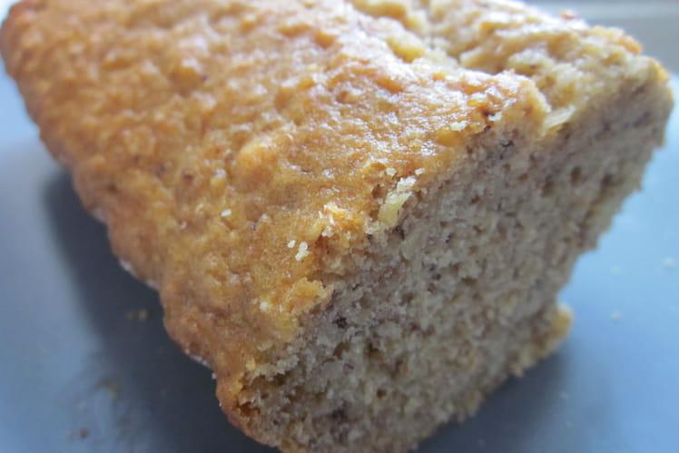 Gâteau noisette, compote de pommes