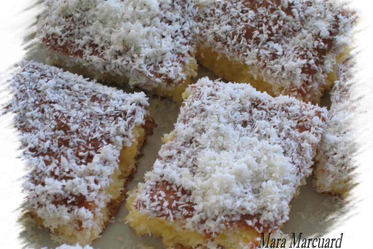 Gâteau à la noix de coco frais