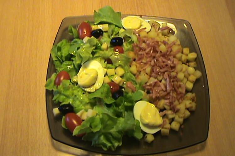 recette de salade alsacienne la recette facile. Black Bedroom Furniture Sets. Home Design Ideas