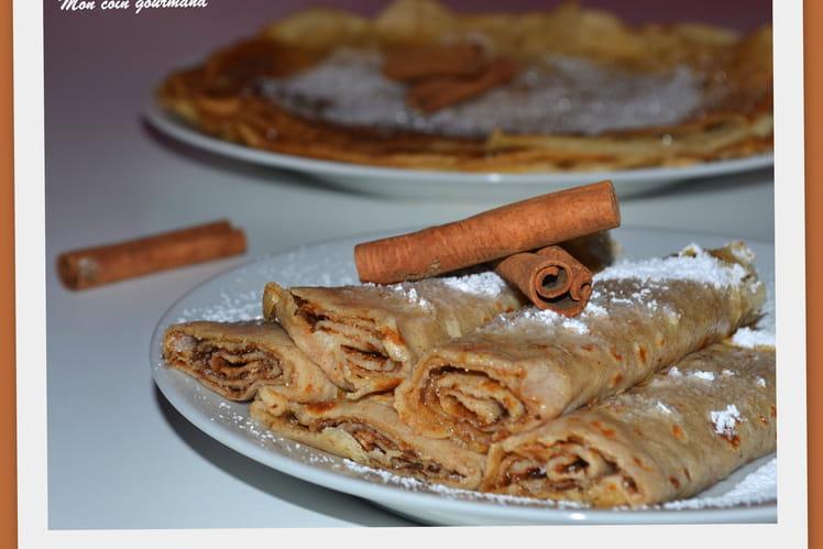 Crêpes sucrées à la cannelle et à la farine de sarrasin