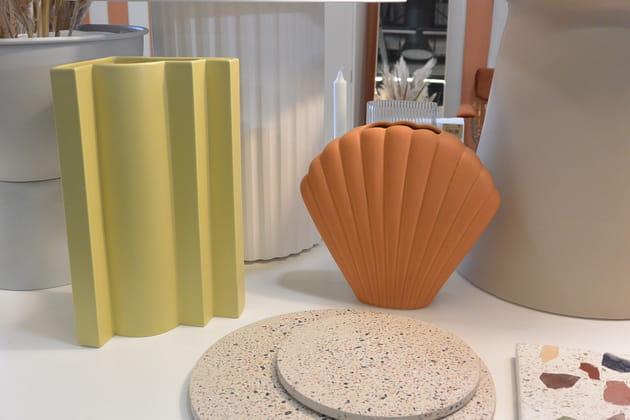 Vase Shell en céramique de HK Living