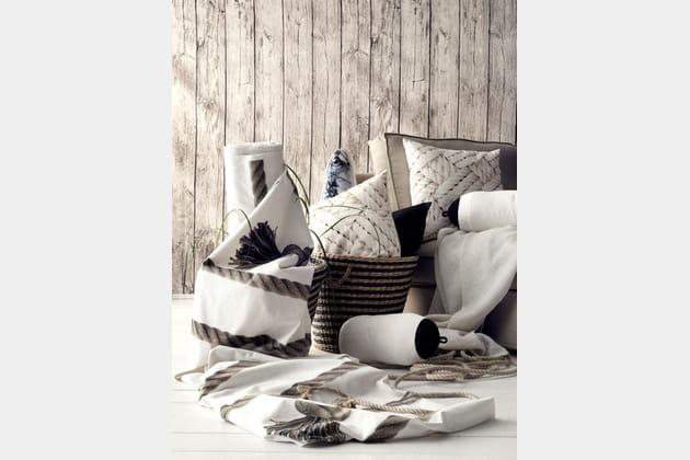 Coussin et tissu Lisel d'IKEA