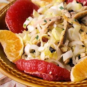 salade d'endives aux agrumes et au poulet