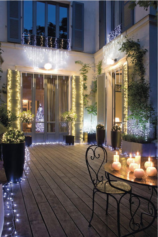 Un jardin illumin pour no l - Deco jardin journal des femmes toulouse ...