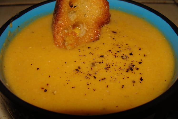 Crème aux 9 légumes, jambon et fromage
