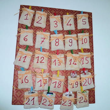 Un calendrier de l 39 avent facile r aliser - Faire un calendrier de l avent facile ...