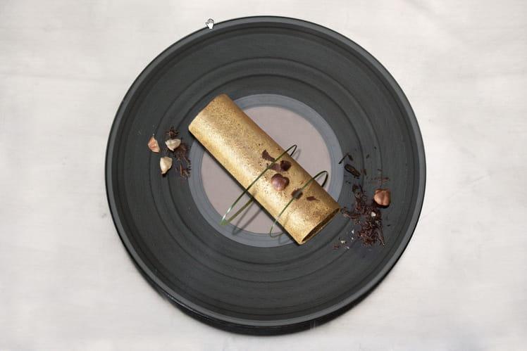 Crêpe dorée à la pâte à tariner noisette