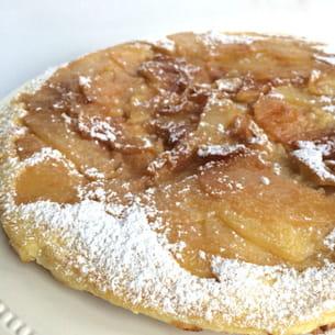 le crapiaux : gâteau aux pommes à la poêle