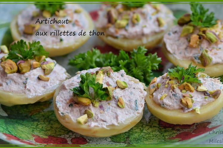 Artichaut aux rillettes de thon
