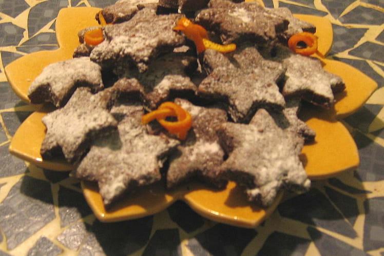 Sablés au cacao et à l'orange
