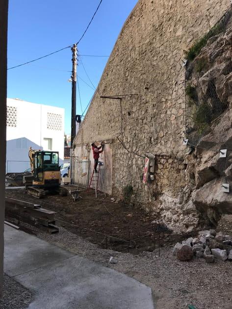 Avant: un mur structurel en piteux état