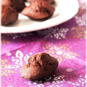 mini madeleines au chocolat et miel