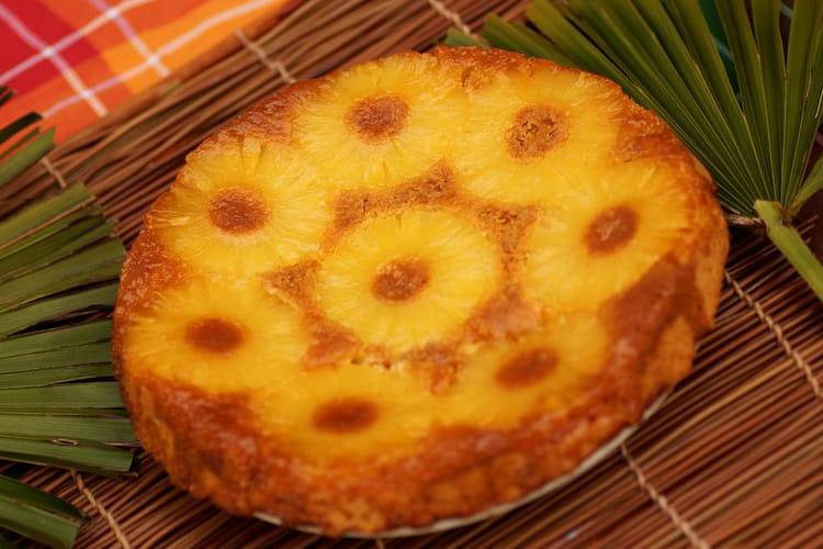 Gâteau renversé à l'ananas tout simple