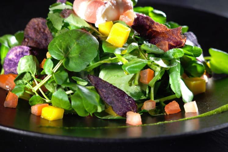 Salade de cresson estivale