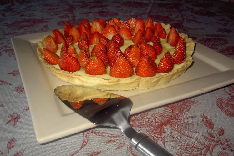 Tarte aux fraises et à la crème
