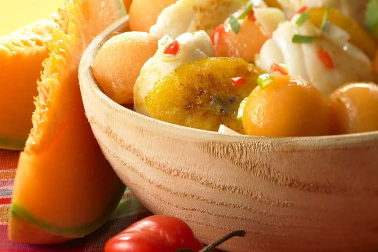 Poêlée de lotte et melon philibon