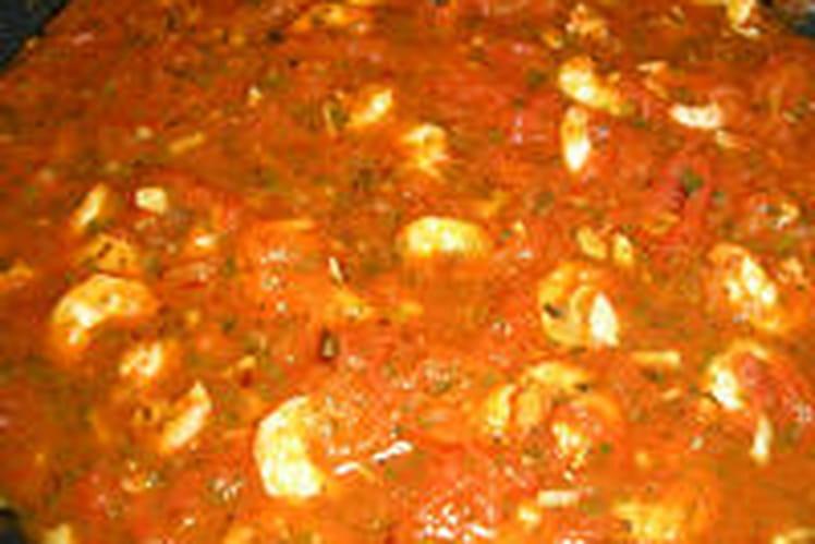 Gambas ou crevettes à la méditerranéenne
