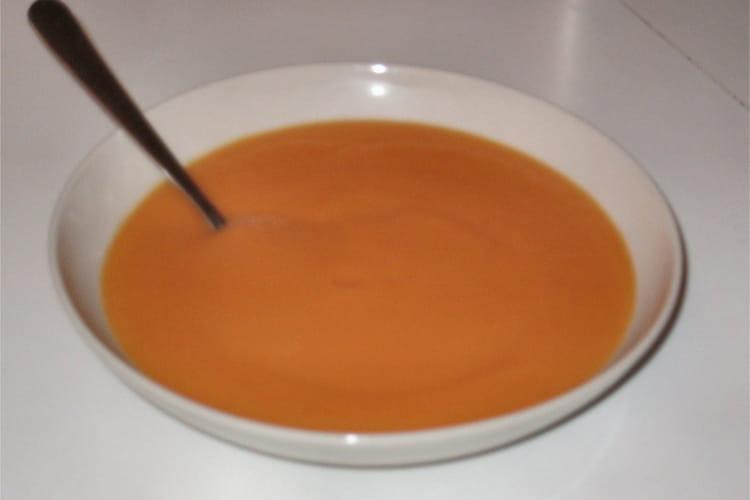 Velouté potiron-carottes au curry