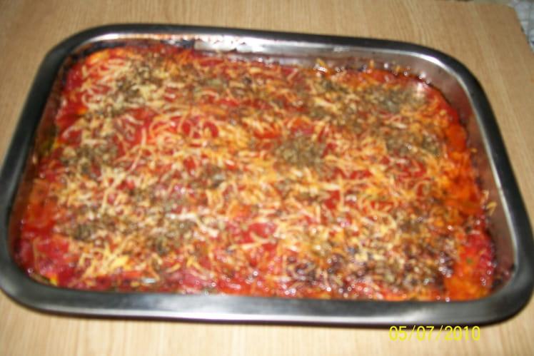 Hachis de courgettes aux oignons et tomate