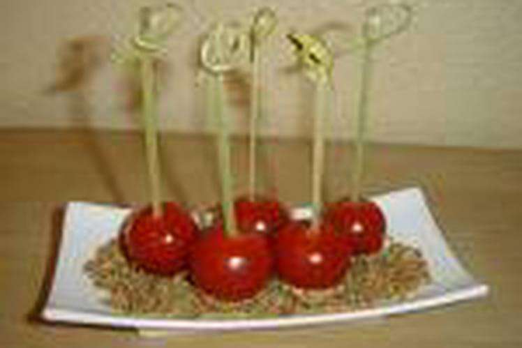 Tomates cerises au sésame