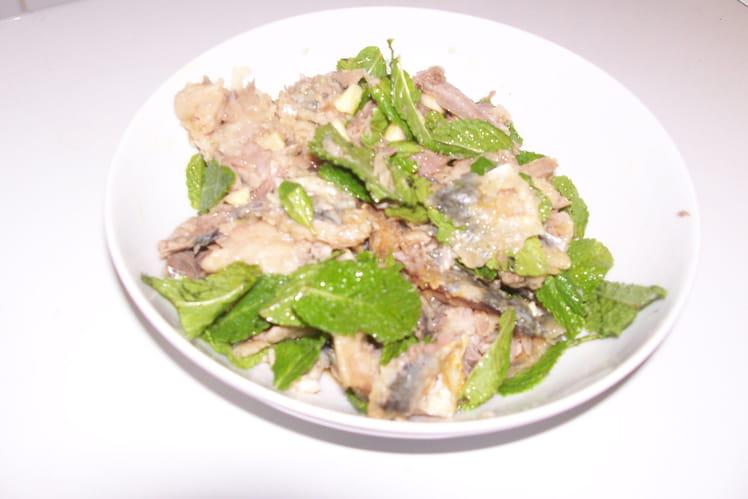 Sardines à la menthe fraîche