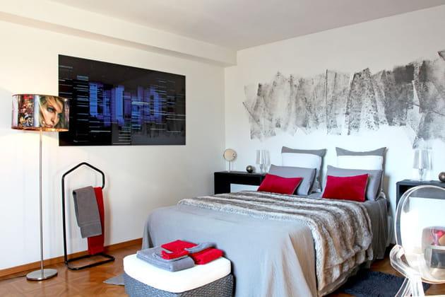 Style actuel et audacieux dans la chambre