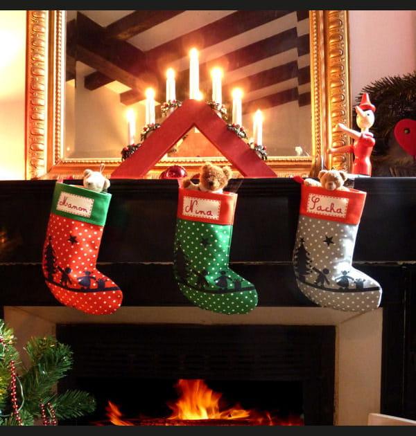 Chaussette de Noël à pois Les Griottes