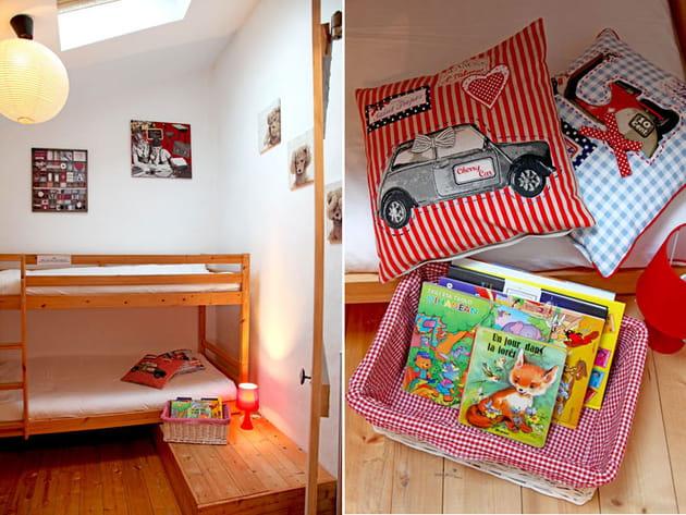 chambre d 39 enfant gaie et color e. Black Bedroom Furniture Sets. Home Design Ideas