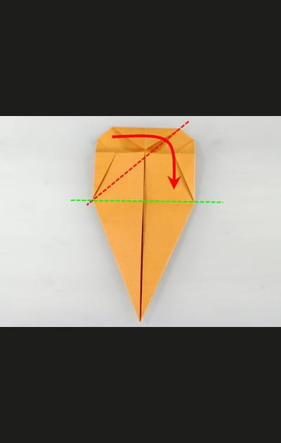Origami chat - Etape 5