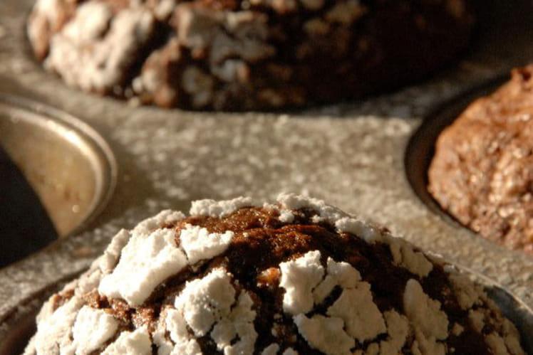 Petits sommets chocolatés enneigés