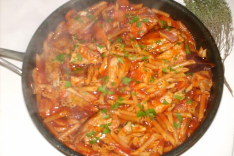 Coustous à la tomate et aux pâtes