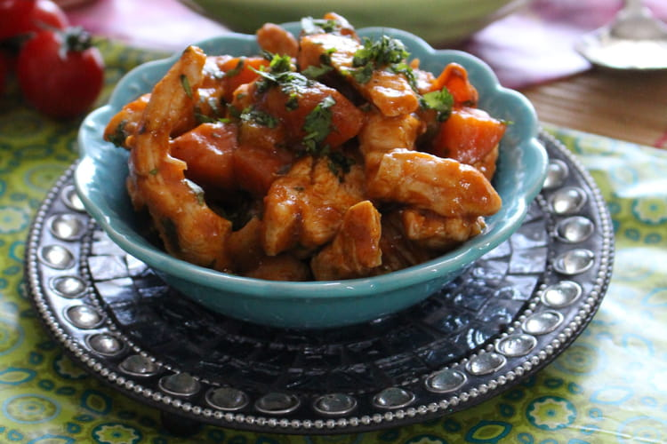 Emincés de poulet sauce Tandoori