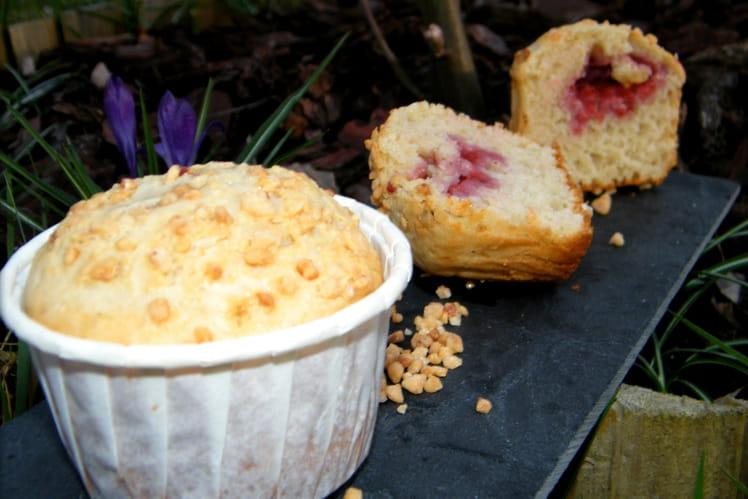 Muffins à la fraise et au basilic
