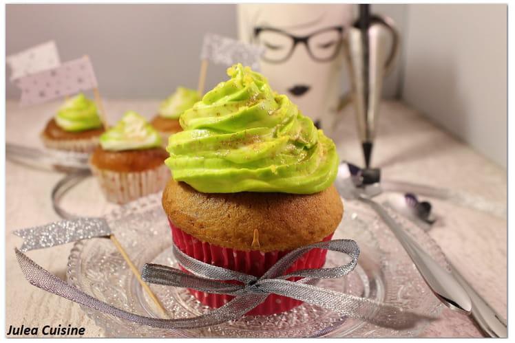 Cupcakes coco vanille et glaçage citron