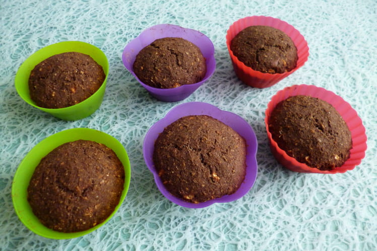 Muffins végans hyperprotéinés chicorée cacao coco sarrasin avoine