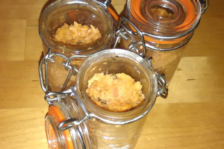 Verrines de rougail pistaches