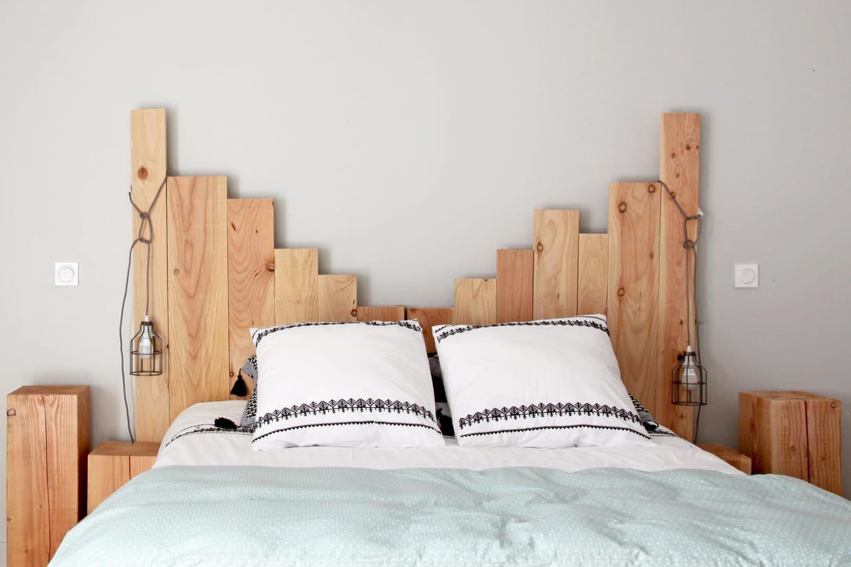 Tete De Lit En Bois Pas Cher tête de lit en bois