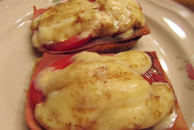 Tartines tomates-mozzarella