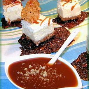 cheese'mignardises citron-vanille et leur tuile