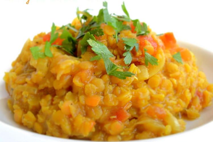 Curry de lentilles corail (Dahl) : la meilleure recette