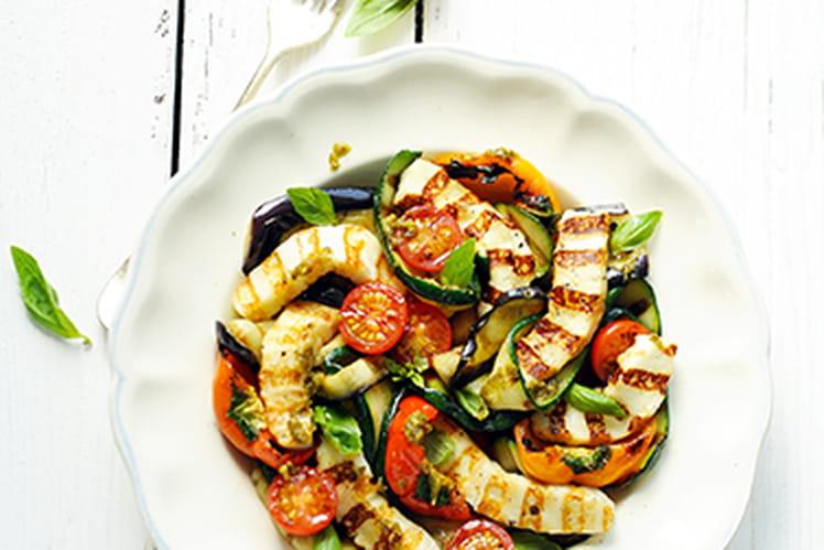 Grillis et Légumes grillés au pesto