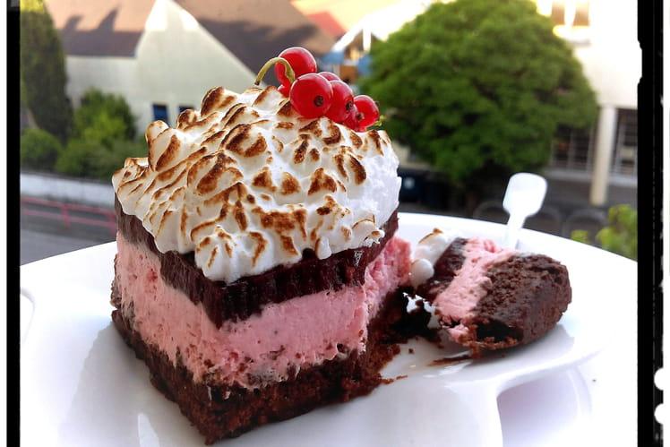 Cheese-cake léger cookies mousse fromage-blanc à la fraise