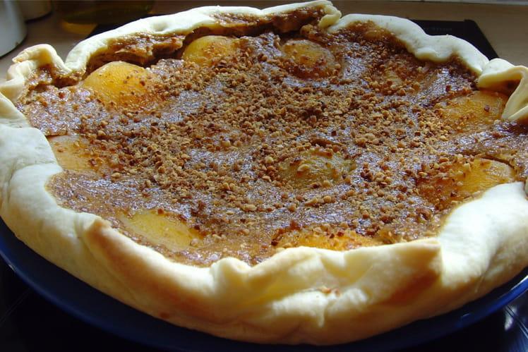 Tarte pralinée aux abricots