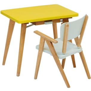 bureau et fauteuil années 1950 lemon de rien à cirer