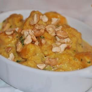 wok de potiron au lait de coco et curry