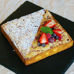 tarte fruits rouges crumble