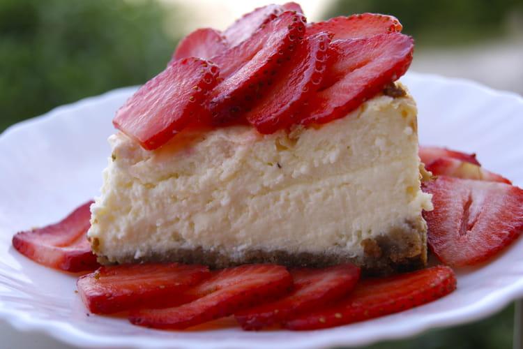 Cheesecake aux fraises, fromage blanc et mascarpone
