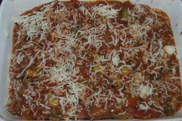 Lasagnes revisitées aux poivrons et courgettes