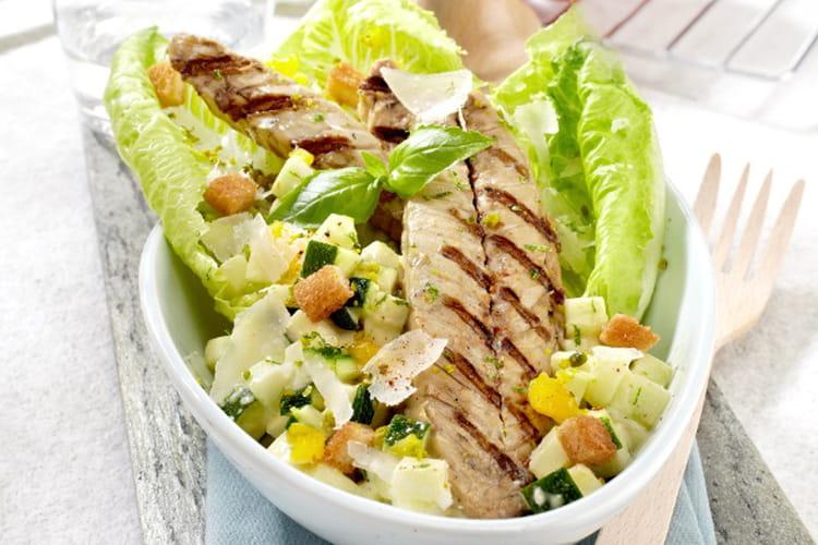 Maquereaux grillés césar salade